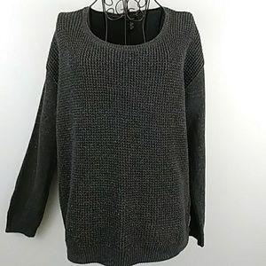 Calvin Klein grey shimmery stretch sweater size M